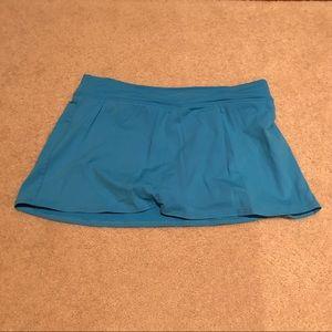 Lands' End Women's Blue Swim Skirt